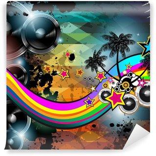 Vinylová Fototapeta Diskotéka flyer šablony. Abstraktní pozadí použít pro hudbu