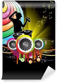 Vinylová Fototapeta DJ music