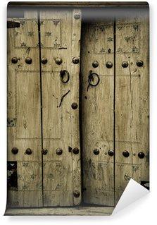 Fototapeta Winylowa Dokładniejszy obraz z starożytnych drzwi
