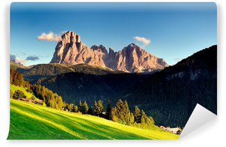 Vinylová Fototapeta Dolomity, Alpy, Sassolungo, Val Gardena