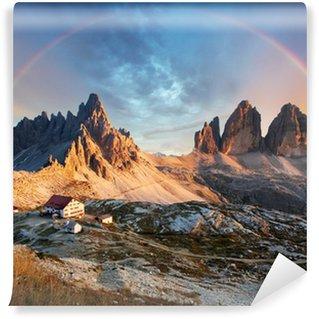 Vinylová Fototapeta Dolomity hora v Itálii při západu slunce - Tre Cime di Lavaredo