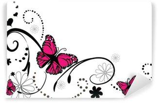 Fototapeta Winylowa Doodle tło motyl