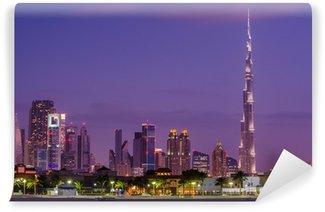 Vinylová Fototapeta Downtown Dubaj (Spojené arabské emiráty) v západu slunce