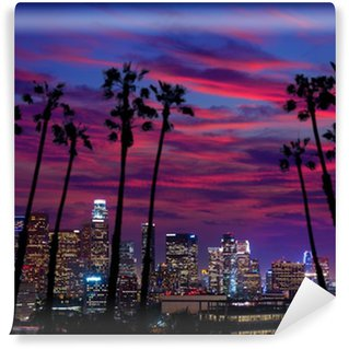 Vinylová Fototapeta Downtown LA noc Los Angeles sunset panorama Kalifornie