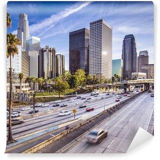 Vinylová Fototapeta Downtown Los Angeles, Kalifornie Panoráma