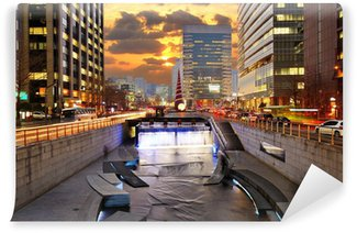 Vinylová Fototapeta Downtown Soul Jižní Korea Panoráma