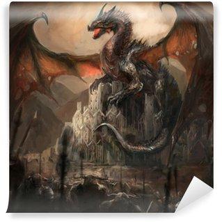 Vinylová Fototapeta Dragon Castle
