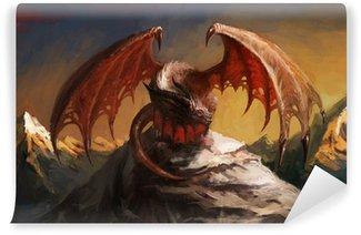 Vinylová Fototapeta Dragon hora
