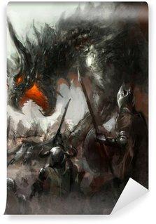 Vinylová Fototapeta Dragon lov