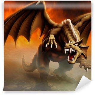 Vinylová Fototapeta Dragon útok