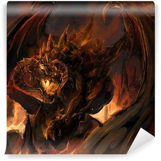 Vinylová Fototapeta Dragon vztek