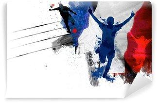 Fototapeta Winylowa Drapeau France Football