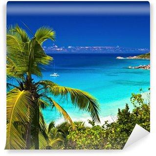 Vinylová Fototapeta Dream přímořská krajina názor, Seychely, ostrov La Digue
