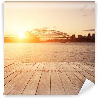 Vinylová Fototapeta Dřevěná deska a památek Sydney