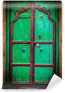 Vinylová Fototapeta Dřevěné staré dveře vintage pozadí