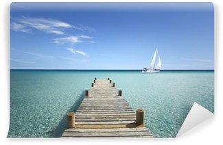 Vinylová Fototapeta Dřevěný most na mém moři