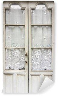 Vinylová Fototapeta Dřevo a skleněné dveře