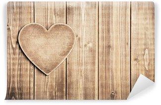 Fototapeta Winylowa Drewniane serca