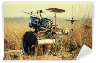 Vinylová Fototapeta Drum nastavit na čerstvém vzduchu