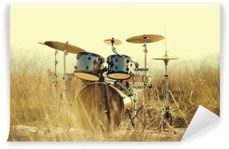 Vinylová Fototapeta Drum nastavit v poli
