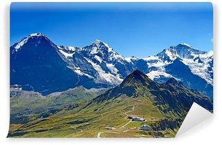 Vinylová Fototapeta Držáky Eiger, Moench a Jungfrau