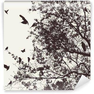 Fototapeta Vinylowa Drzewo i ptak