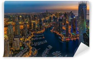 Vinylová Fototapeta DUBAI, Spojené arabské emiráty - říjen 13: Moderní budovy v Dubai Marina, Dubaj
