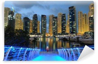 Vinylová Fototapeta Dubaj Marina v noci, Spojené arabské emiráty