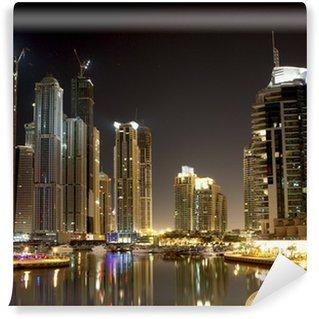 Vinylová Fototapeta Dubaj Marina v noci