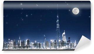 Vinylová Fototapeta Dubaj noční panoráma města