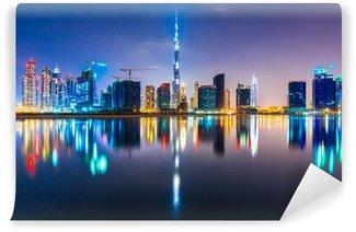 Vinylová Fototapeta Dubaj panorama za soumraku, Spojené arabské emiráty.