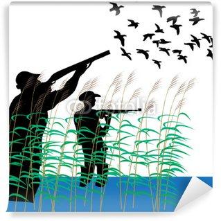 Vinylová Fototapeta Duck lovci