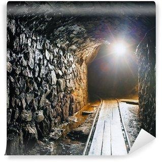 Vinylová Fototapeta Důl s železniční trať - hlubinná těžba