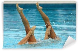 Vinylová Fototapeta Duo Synchronizované plavání
