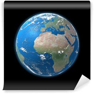 Fototapeta Winylowa Duża mapa szczegółowa kula, Europa, Afryka