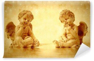 Vinylová Fototapeta Dvě roztomilé andělé sedí