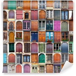 Vinylová Fototapeta Dveře a okna koláž