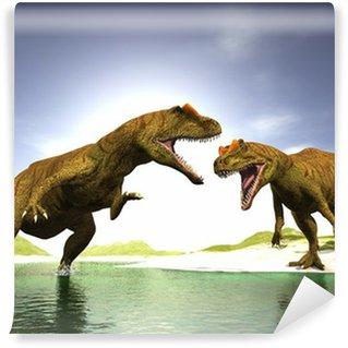 Fototapeta Winylowa Dwa dinozaury