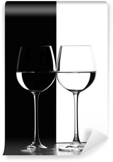 Fototapeta Winylowa Dwa kieliszki do wina.