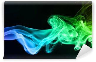 Fototapeta Winylowa Dym na czarnym