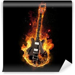 Vinylová Fototapeta E Kytara na oheň