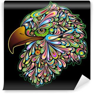 Vinylová Fototapeta Eagle Hawk Hawk Hawk orel design Psychedelic Pop Art