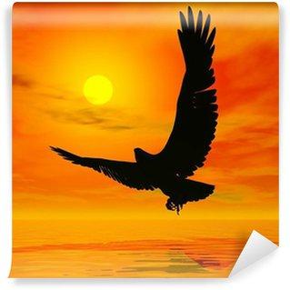 Vinylová Fototapeta Eagle při západu slunce - 3d render