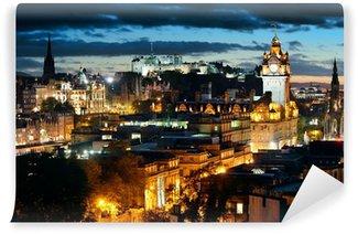 Vinylová Fototapeta Edinburgh noc