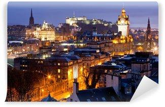 Vinylová Fototapeta Edinburgh Panoramata budovy a zámek ve Skotsku