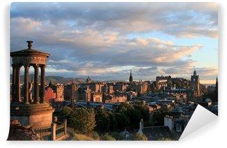 Vinylová Fototapeta Edinburgh Skotsko západ slunce panorama od Calton Hill