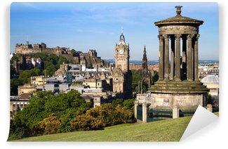 Vinylová Fototapeta Edinburgh Summer City a výhledem na zámek