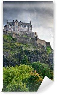 Vinylová Fototapeta Edinburský hrad overdramatic mraky, Skotsko, Velká Británie
