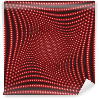 Fototapeta Winylowa Efekt optyczny z czerwonymi kółkami