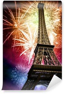 Vinylová Fototapeta Eiffel s ohňostrojem